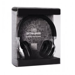 AUDIO EXTRA BASS WITH MICRO (EP16) BLACK