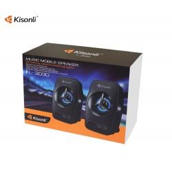 KISONLI SPEAKERS L-3030, 2x3W, USB, BLACK