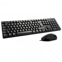 DQR KEYBOARD MOUSE SET KMS-001 - ENGLISH/GREEK USB 2.0 - WIRED - BLACK