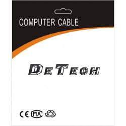 DETECH Καλώδιο USB Μ / Μ, HQ, 1.5m - 18034