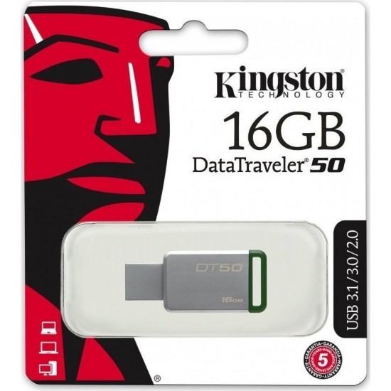 KINGSTON USB Stick DT50/16GB, USB 3.1 Green DT50/16GB