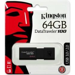 KINGSTON DT100G3/64GB USB Flash DataTraveler 100 Generation 3 USB 3.0 64GB
