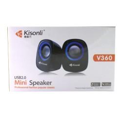 Ηχεία Kisonli V360 2×1,5W USB, Πολύχρωμα – 22046