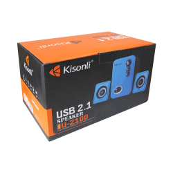 Ηχεία, Kisonli U-2100, 5W+3Wx2 USB, Διαφορετικά χρώματα - 22058