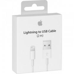 APPLE Cable USB to Lightning White 2m ORIGINAL RETAIL BOX (MD819ΖΜ/Α)