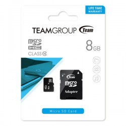 TeamGroup Micro SDHC Class 10 8GB With Adapter