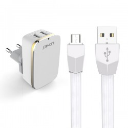 LDNIO A2204 HOME CHARGER 2xUSB 2.4A + MICRO USB CABLE