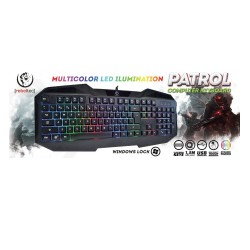 REBELTEC PATROL GAMING WIRE KEYBOARD WITH BACKLIGHT BLACK