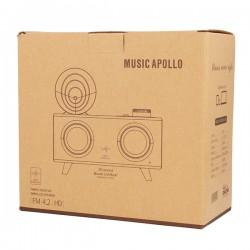 B6 Portable Speaker Retro Gramophone with Bluetooth and Radio DARK BROWN