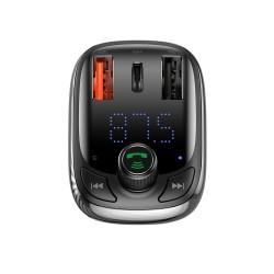 BASEUS FM TRANSMITER BLUETOOTH MP3 WITH CAR CHARGER  2 x USB 5A QC CCTM-B01