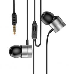 BASEUS WIRE EARPHONES ENCOK H04 SILVER