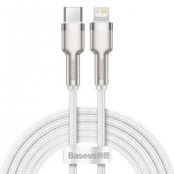 BASEUS CABLE CAFULE METAL USB-C - LIGHTNING 20W 2M WHITE