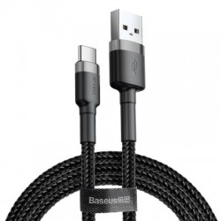 BASEUS CAFULE CABLE TYPE-C 2A 3M GRAY-BLACK CATKLF-UG1