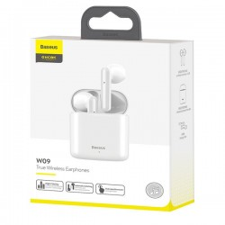 BASEUS TWS W09 TWS W09 EARPHONES WIRELESS WHITE