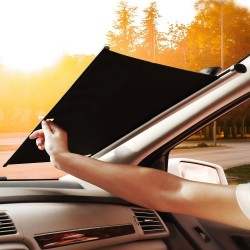 BASEUS AUTO CLOSE CAR FRONT WINDOW SUNSHADE (retractable,with suction cup) SILVER WIDTH 58cm CRZYD-A0S