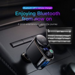 BASEUS CCALL-RH01  T TYPED BLEUETOOTH MP3 CHARGER WITH CAR HOLDER  BLACK