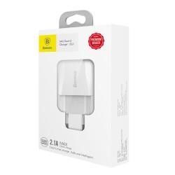 BASEUS WALL CHARGER Mini Dual-U 2 x USB 2.1A CCALL-MN02