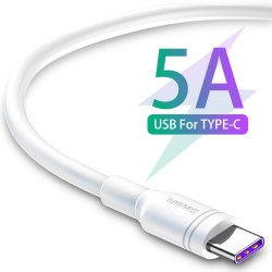 BASEUS CABLE DOUBLE-RING TYPE-C 1M WHITE 5A