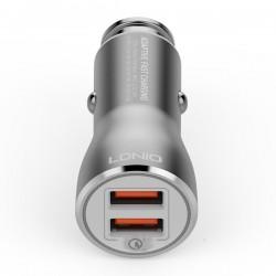 LDNIO C407Q CAR CHARGER 2xUSB 3A QC 3.0 + MICRO USB CABLE