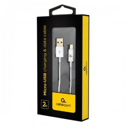 CABLEXPERT CC-USB2P-AMMBM-2M-W MICRO-USB CHARGING AND DATA CABLE 2M WHITE
