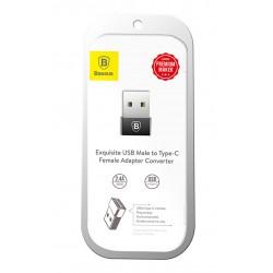 BASEUS CATJQ-A01 USB MALE TO TYPE-C FEMALE ADAPTER CONVERTER