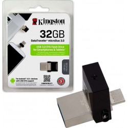 KINGSTON DTDUO3/32GB DATATRAVELER MICRODUO 32GB USB3.0 FLASH DRIVE