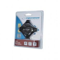 ESPERANZA STAR 4-PORT HUB USB 2.0 EA150K BLACK