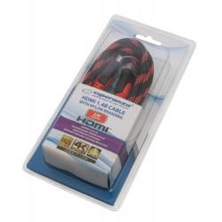 ESPERANZA HDMI 1.4B BRAIDED CABLE 2M EB193