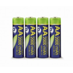 ENERGENIE RECHARGEABLE AA INSTANT BATTERIES (READY-TO-USE), 2000mAh, BL4