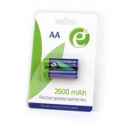 ENERGENIE NI-MH RECHARGEABLE AA BATTERIES 2600MAH 2PCS BLISTER