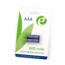 ENERGENIE NI-MH RECHARGEABLE AAA BATTERIES 1000MAH 2PCS BLISTER