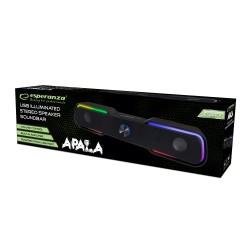 ESPERANZA USB SPEAKERS/SOUNDBAR LED RAINBOW APALA EGS101