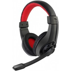 GEMBIRD GHS-01 GAMING HEADSET WITH VOLUME CONTROL BLACK/RED