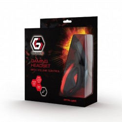 GEMBIRD GHS-03 GAMING HEADSET WITH VOLUME CONTROL BLACK