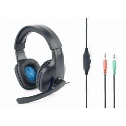 GEMBIRD GHS-04  GAMING HEADSET WITH VOLUME CONTROL BLACK