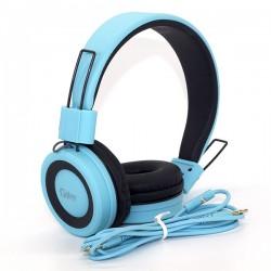 GJBY GJ-14  HEADPHONES - AUDIO EXTRA BASS BLUE