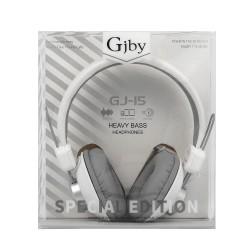 GJBY GJ-15  HEADPHONES - AUDIO EXTRA BASS WHITE
