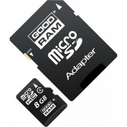 GOODRAM M40A MICROSDHC 8GB CLASS 4 WITH ADAPTER