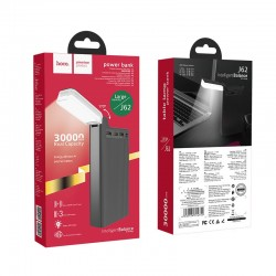 HOCO POWERBANK J62 JOVE 3xUSB 30000mAh WITH LED LAMP BLACK