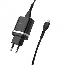 HOCO WALL CHARGER C12Q SMART 1xUSB QC 3.0 WITH MICRO USB CABLE BLACK