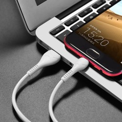 HOCO X37  COOL POWER CHARGING DATA CABLE MICRO USB  1M WHITE
