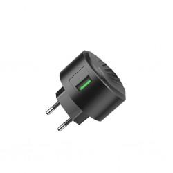 HOCO C68A QC3.0 CHARGER SHELL SINGLE USB 18W BLACK