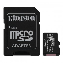 KINGSTON CANVAS SELECT PLUS MICROSDHC 128GB U1 V10 A1 WITH ADAPTOR