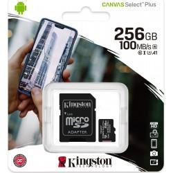 KINGSTON CANVAS SELECT PLUS MICROSDHC 256GB U1 V10 A1 WITH ADAPTOR