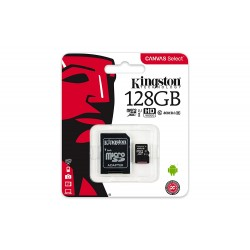 KINGSTON SDCS/128GB CANVAS SELECT 128GB MICRO SDXC UHS-I CLASS 10 + SD ADAPTER