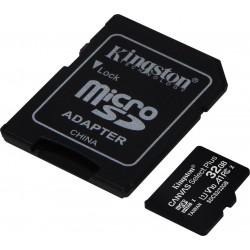 KINGSTON CANVAS SELECT PLUS MICROSDHC 32GB U1 V10 A1 WITH ADAPTOR