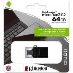 KINGSTON DATATRAVELER MICRODUO G2 64GB USB 3.0 DTDUO3G2/64GB
