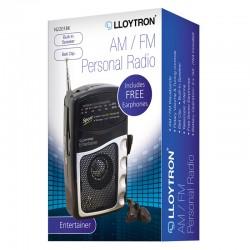 Lloytron AM/FM Personal Radio N2201BK