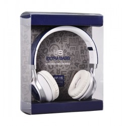 AUDIO EXTRA BASS WITH MICRO (EP16) NAVY BLUE