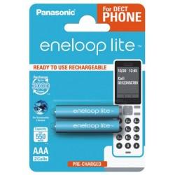 PANASONIC ENELOOP LITE R03 AAA 550mAh BK-4LCCE/2BE BL2